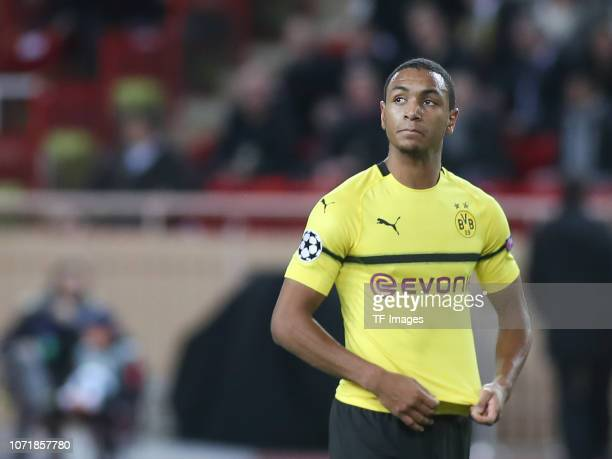 Abdou Diallo of Borussia Dortmund looks on during the UEFA Champions League Group A match between AS Monaco and Borussia Dortmund at Stade Louis II...