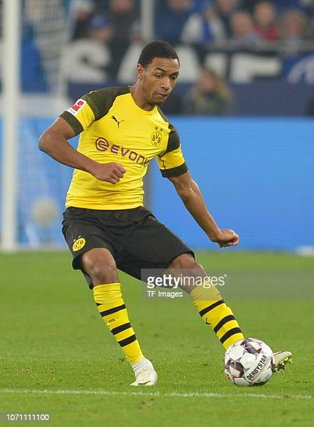 Abdou Diallo of Dortmund controls the ball during the Bundesliga match between FC Schalke 04 and Borussia Dortmund at VeltinsArena on December 8 2018...