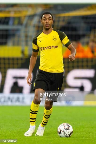 Abdou Diallo of Dortmund controls the ball during the Bundesliga match between Borussia Dortmund and SportClub Freiburg at Signal Iduna Park on...