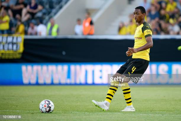 Abdou Diallo of Dortmund controls the ball during the friendly match between Borussia Dortmund and Stade Rennais at Cashpoint Arena on August 3 2018...