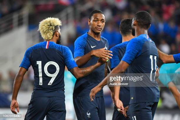 Abdou Diallo of France celebrates during the Qualifying European Championship match between France and Slovenia at Stade Gaston Gerard on October 16...