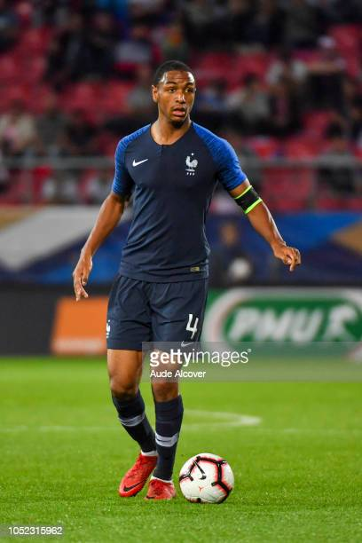 Abdou Diallo of France during the Qualifying European Championship match between France and Slovenia at Stade Gaston Gerard on October 16 2018 in...