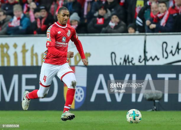 Abdou Diallo of Mainz controls the ball during the Bundesliga match between 1 FSV Mainz 05 and FC Bayern Muenchen at Opel Arena on February 3 2018 in...