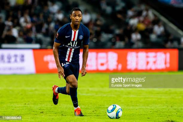 Abdou Diallo of Paris Saint-Germain in action during the 2019 Trophee des Champions between Paris saint-Germain and Stade Rennais FC at Shenzhen...
