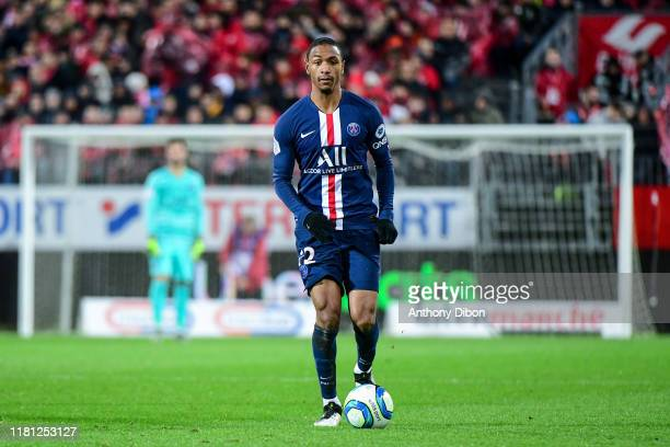 Abdou DIALLO of PSG during the Ligue 1 match between Brest and Paris Saint Germain at Stade FrancisLe Ble on November 9 2019 in Brest France