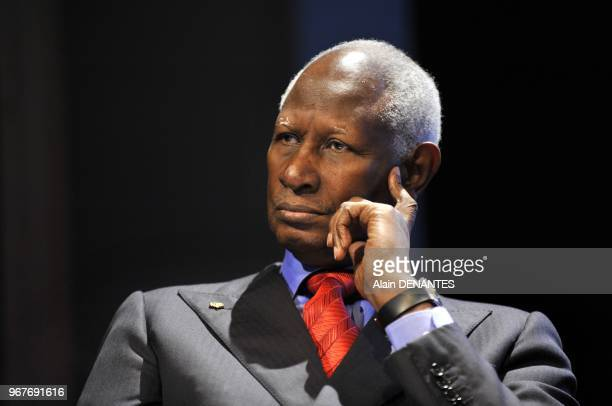 Abdou Diouf General Secretary of the International Organization of the Francophonie and former President of Senegal attends to the FranceAcadie...