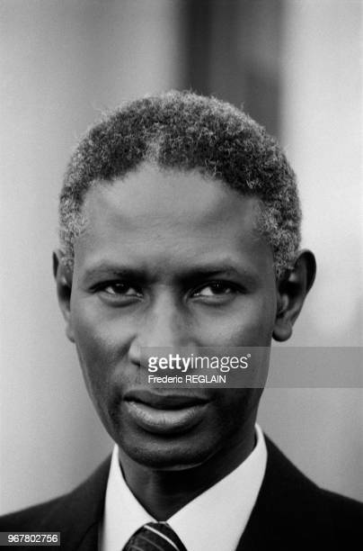 Abdou Diouf président du Sénégal le 14 décembre 1984 à Paris France