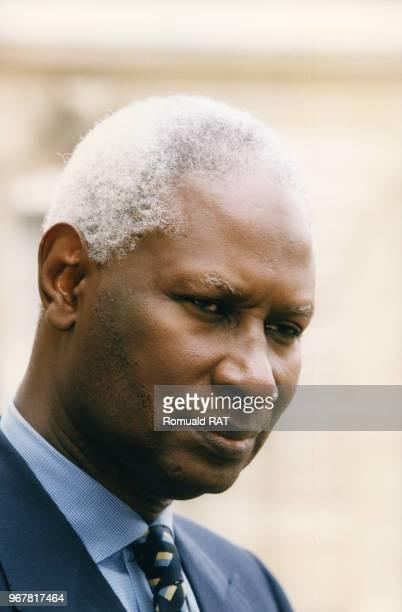 Abdou Diouf président du Sénégal le 24 février 1998 à Paris France