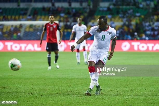 Abdou Razack Traore of Burkina Faso during the African Nations Cup Semi Final match between Burkina Faso and Egypt at Stade de L'Amitie on February 1...