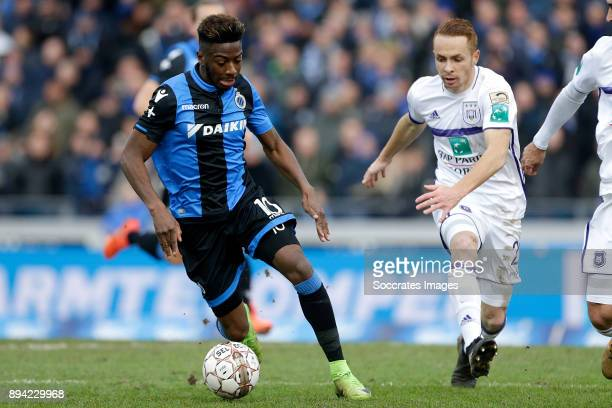 Abdoulay Diaby of Club Brugge Josue Sa of RSC Anderlecht during the Belgium Pro League match between Club Brugge v Anderlecht at the Jan Breydel...