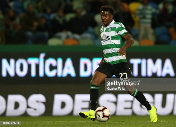 Abdoulay Diaby of Sporting CP in action during the Liga NOS match between Sporting CP and Boavista FC at Estadio Jose Alvalade on October 28 2018 in...