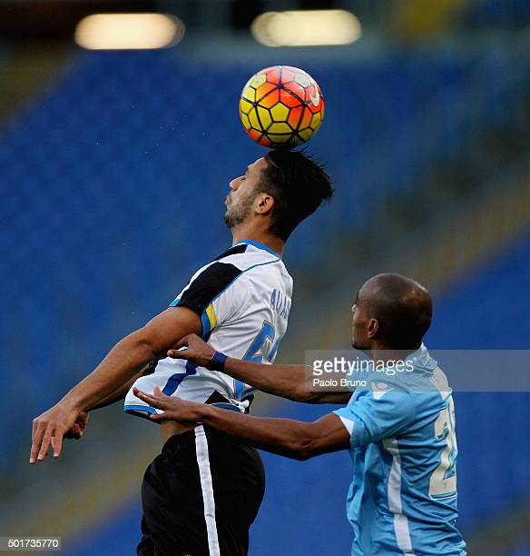 Abdoulay Konko of SS Lazio competes for the ball with Altameeni Ali Adnan of Udinese Calcio during the TIM Cup match between SS Lazio and Udinese...