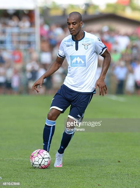 Abdoulay Konko of SS Lazio in action during the preseason friendly match between SS Lazio and Vicenza Calcio on July 18 2015 in Auronzo near Cortina...