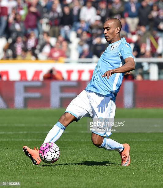 Abdoulay Konko of SS Lazio in action during the Serie A match between Torino FC and SS Lazio at Stadio Olimpico di Torino on March 6 2016 in Turin...