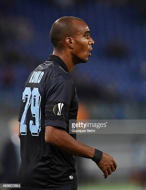Abdoulay Konko of SS Lazio in action during the UEFA Europa League group G match between SS Lazio and Rosenborg BK at Stadio Olimpico on October 22...