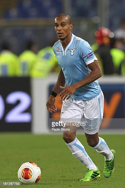 Abdoulay Konko of SS Lazio in action during the Uefa Europa League Group J match between SS Lazio and Legia Warszawa at Stadio Olimpico on September...