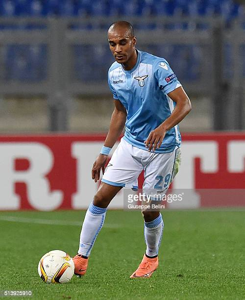 Abdoulay Konko of SS Lazio in action during the UEFA Europa League Round of 32 second leg match between SS Lazio and Galatasaray AS on February 25...