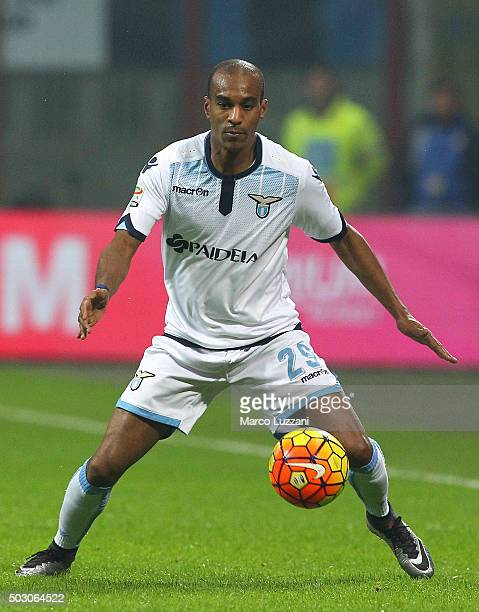 Abdoulay Konko of SS Lazio of FC Internazionale Milano in action during the Serie A match between FC Internazionale Milano and SS Lazio at Stadio...