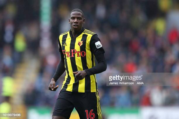 Abdoulaya Doucoure of Watford during the Premier League match between Burnley FC and Watford FC at Turf Moor on August 19 2018 in Burnley United...