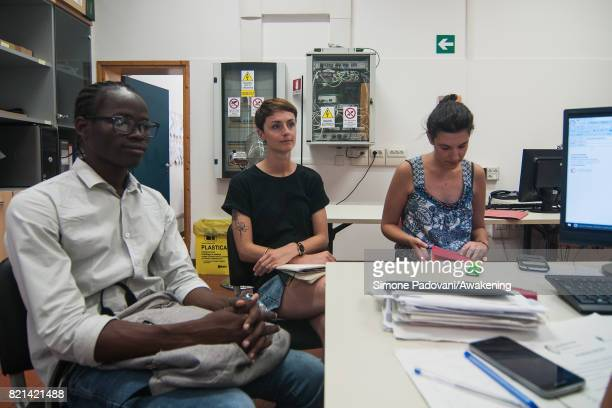 Abdoulaye attends at the meeting with the referring operators who follow him in the integration process on July 21 2017 in Bologna Italy Abdoulaye...