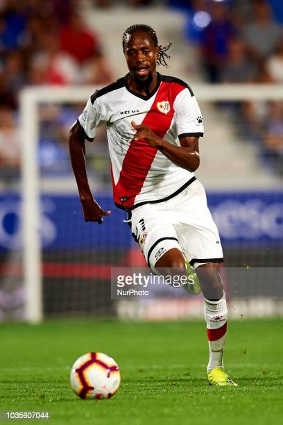 Abdoulaye Ba in action during the match between SD Huesca against Rayo Vallecano at Alcoraz Stadium in Huesca Spain on September 14 2018