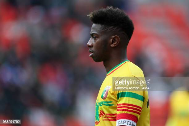 Abdoulaye Diaby of Mali during the International friendly match between Japan and Mali at the Stade de Sclessin on March 23 2018 in Liege Belgium