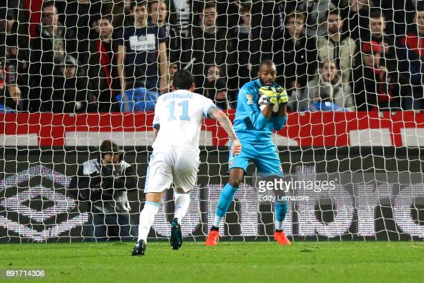 Abdoulaye Diallo Goalkeeper of Rennes during the french League Cup match Round of 16 between Rennes and Marseille on December 13 2017 in Rennes France