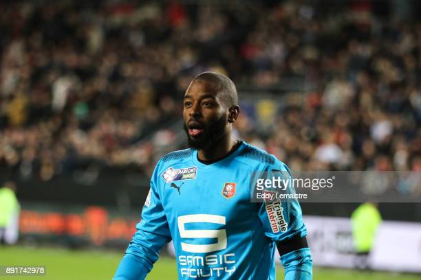 Abdoulaye Diallo Goalkeeper of Rennes during the penalties session during the french League Cup match Round of 16 between Rennes and Marseille on...