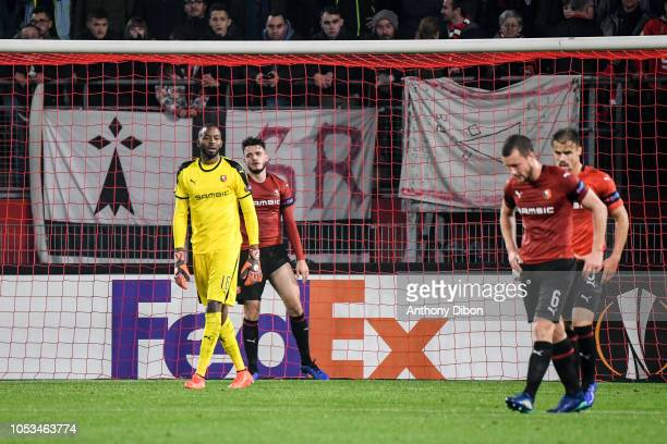 Abdoulaye Diallo of Rennes dejected during the UEFA Europa League match between Stade Rennais and Dynamo Kiev on October 25 2018 in Rennes France