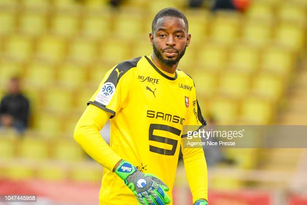 Abdoulaye Diallo of Rennes during the Ligue 1 match between Monaco and Rennes at Stade Louis II on October 7 2018 in Monaco Monaco