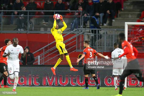 Abdoulaye Diallo of Rennes during the Ligue 1 match between Rennes and Dijon at Roazhon Park on December 8 2018 in Rennes France