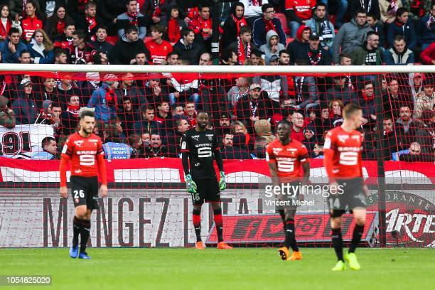 Abdoulaye Diallo of Rennes during the Ligue 1 match between Stade Rennais and Stade de Reims on October 28 2018 in Rennes France