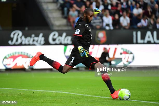 Abdoulaye Diallo of Rennes during the Ligue 1 match between Stade Rennais and Olympique Lyonnais at Roazhon Park on August 11 2017 in Rennes