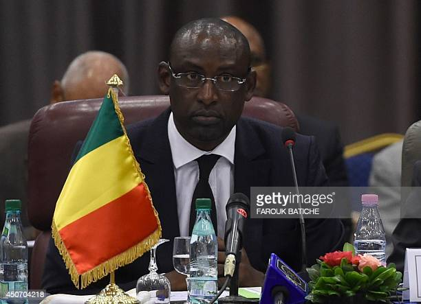 Abdoulaye Diop Minister of Foreign Affairs African Integration and International Cooperation of the Republic of Mali attends a meeting of foreign...