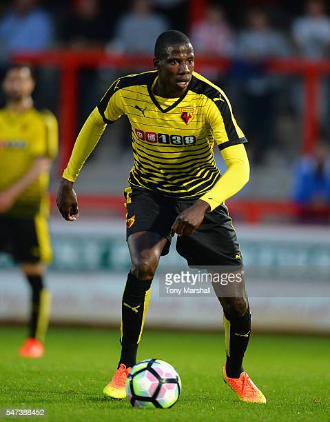 Abdoulaye Doucoure during the PreSeason Friendly match between Stevenage and Watford at The Lamex Stadium on July 14 2016 in Stevenage England
