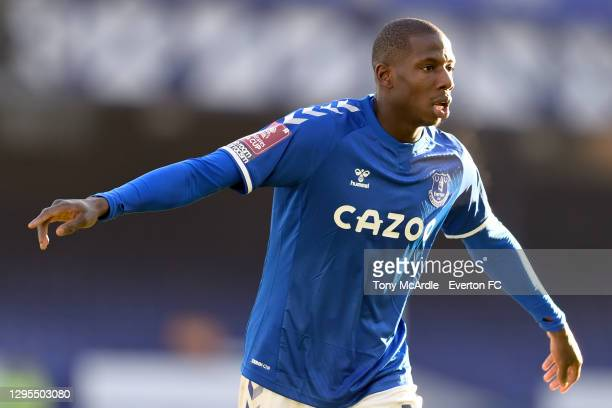 Abdoulaye Doucoure of Everton during the FA Cup Third Round match between Everton and Rotherham United at Goodison Park on January 9 2021 in...