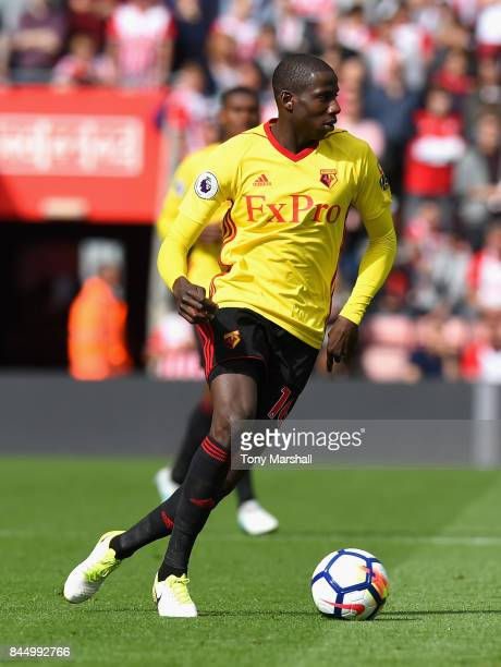 Abdoulaye Doucoure of Watford during the Premier League match between Southampton and Watford at St Mary's Stadium on September 9 2017 in Southampton...