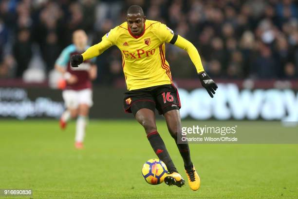 Abdoulaye Doucoure of Watford during the Premier League match between West Ham United and Watford at London Stadium on February 10 2018 in London...