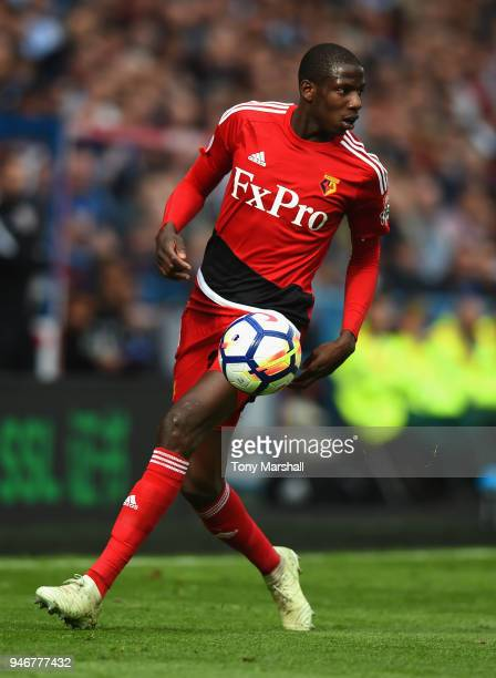 Abdoulaye Doucoure of Watford during the Premier League match between Huddersfield Town and Watford at John Smith's Stadium on April 14 2018 in...