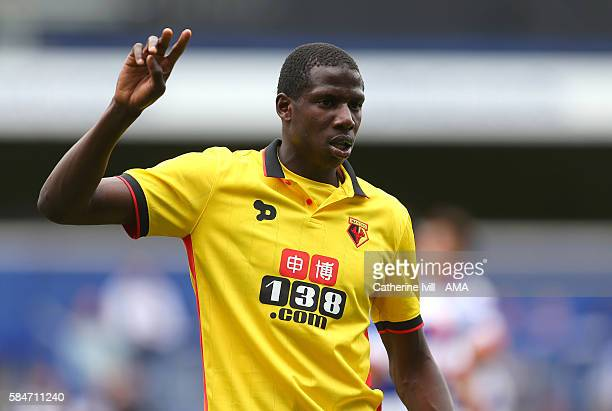 Abdoulaye Doucoure of Watford during the PreSeason Friendly match between Queens Park Rangers and Watford at Loftus Road on July 30 2016 in London...