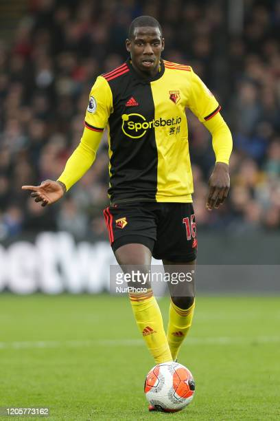 Abdoulaye Doucoure of Watford in action during the Premier League match between Crystal Palace and Watford at Selhurst Park London on Saturday 7th...