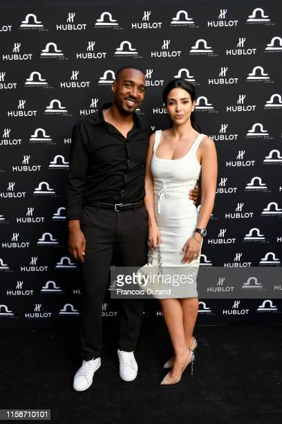 Abdoulaye Fadiga and Mounia Fadiga attend the launch of Hublot x Champion Spirit on June 27 2019 in Paris France