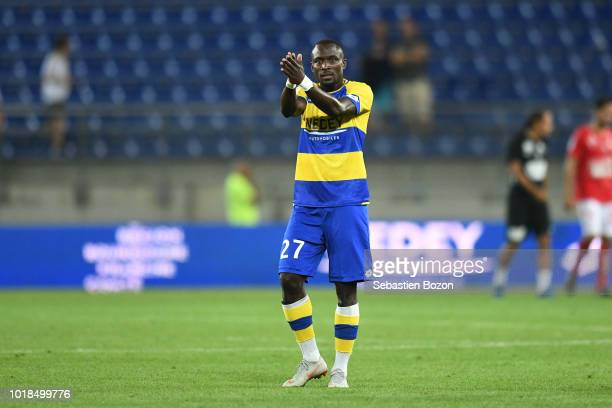 Abdoulaye Sane of Sochaux during the French Ligue 2 match between Sochaux and Brest at Stade Auguste Bonal on August 17 2018 in Montbeliard France