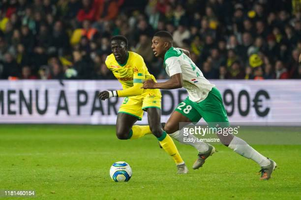 Abdoulaye TOURE of Nantes and Zaydou YOUSSOUF of Saint Etienne during the Ligue 1 match between Nantes and Saint Etienne at Stade de la Beaujoire on...