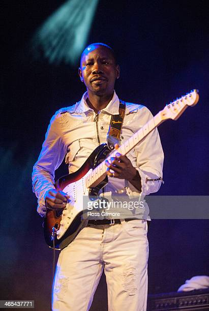 Abdoulaye Traore of Debademba performs on stage during Celtic Connections Festival at The Old Fruit Market on January 26 2014 in Glasgow United...