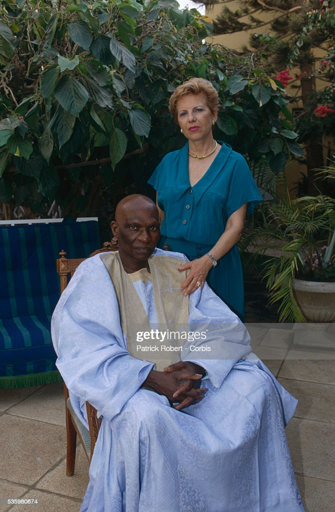 Abdoulaye Wade, with his French wife Viviane, is the leader of the opposition party known as the Senegalese Democratic Party. He was later elected President of Senegal in April 2000.