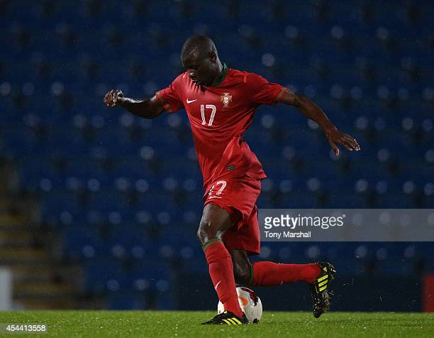 Abdu Conte of Portugal during the Under 17 International match between England U17 and Portugal U17 at Proact Stadium on August 29 2014 in...