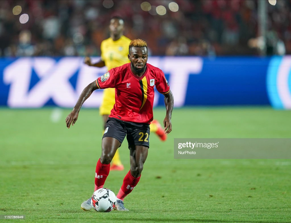 Abdu Lumala of Uganda during the 2019 African Cup of Nations match