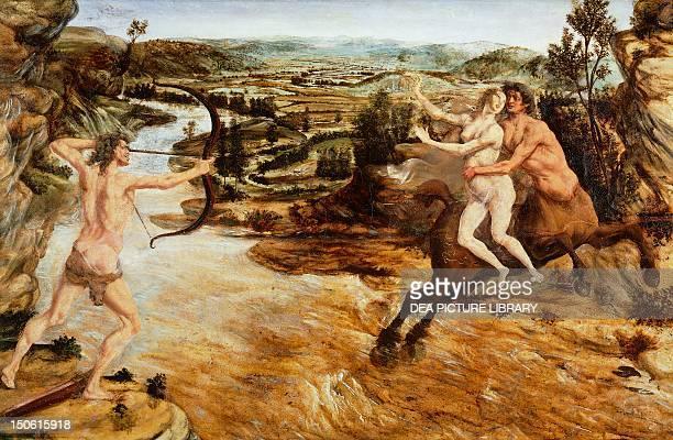 Abduction of Dejanira or Hercules and Dejanira 14751480 Antonio Benci known as Pollaiuolo oil on wood 54x80 cm