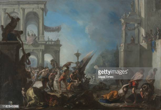 Abduction of the Sabine Women c 1640 Johann Heinrich Schonfeld Oil on canvas framed 129 x 178 x 75 cm unframed 110 x 160 cm